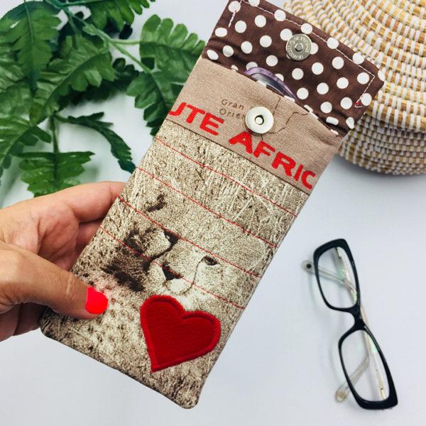 Funda unisex África corazón rojo